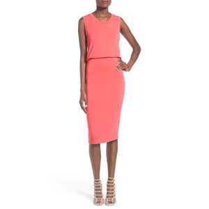 NWT Leith Sharon Dress in Coral